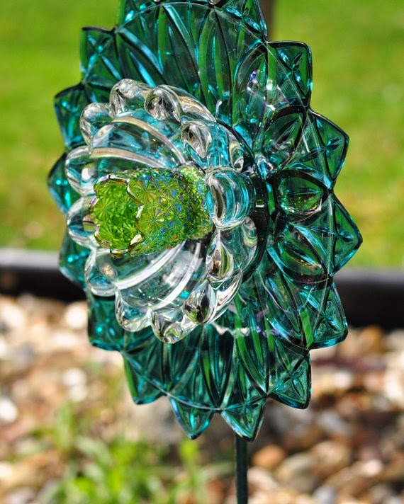 Crafts by tilly for Recycled glass flowers