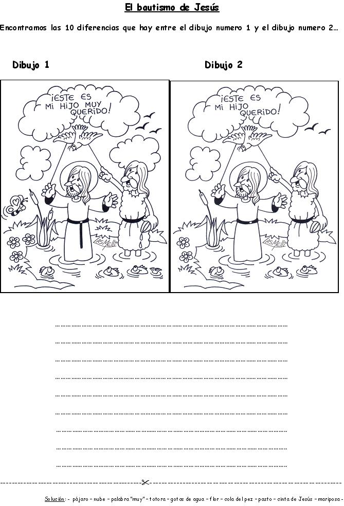 Moderno John Bautiza A Jesus Para Colorear Foto - Dibujos Para ...