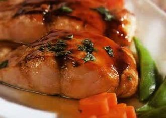 resep ikan salmon panggang dengan Capers dan saus tomat