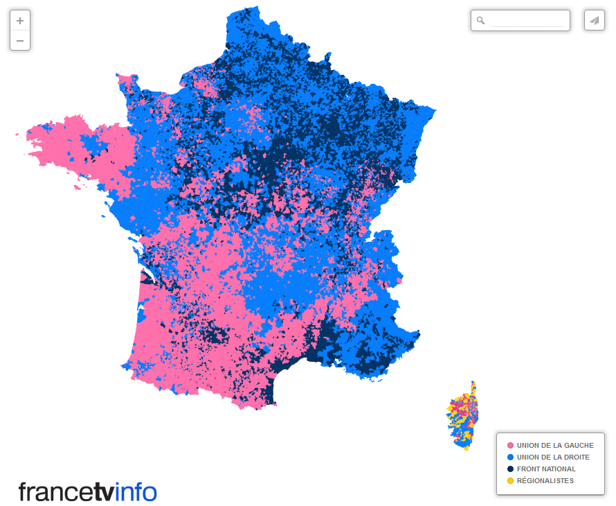 French election results from yesterday on the communal level