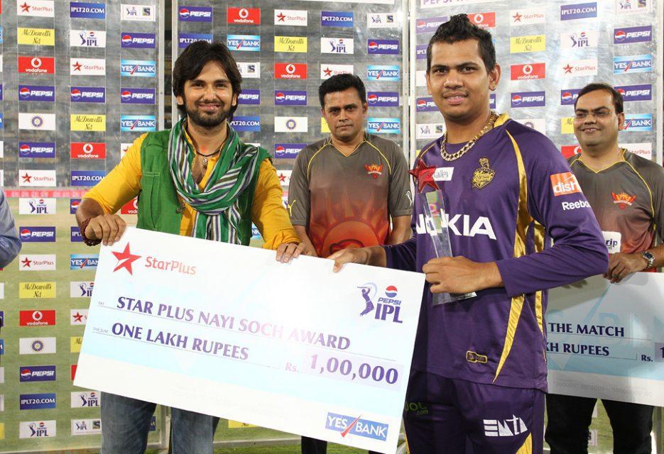 Sunil-Narine-Nayi-Soch-Award-SRH-vs-KKR-IPL-2013