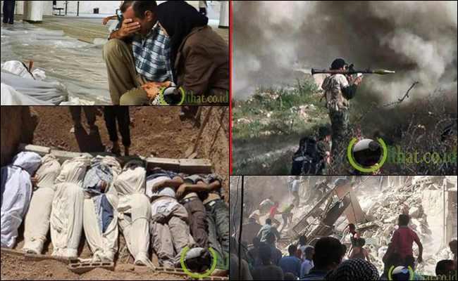 10 Penampakan Suasana Suriah Setelah terkena Serangan Kimia