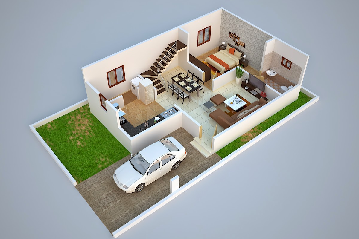 Luxurious villas at sarjapur for 30x50 duplex house plans