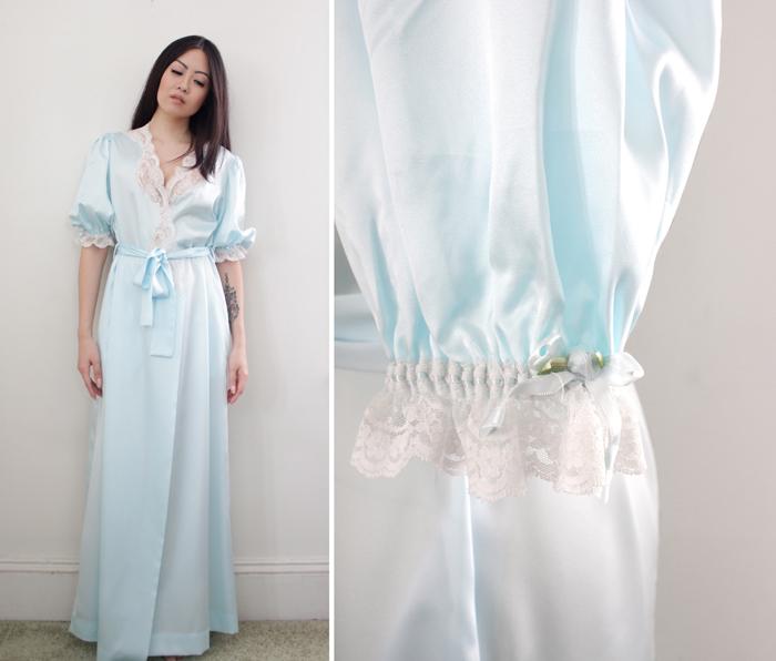 vintage dior robe at cutandchicvintage
