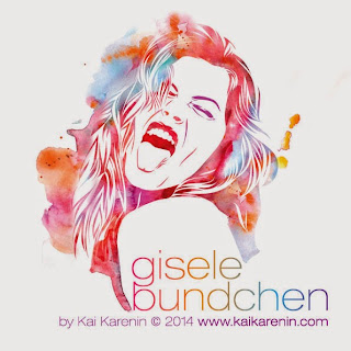 Gisele Bundchen by Kai Karenin, mixed media portrait