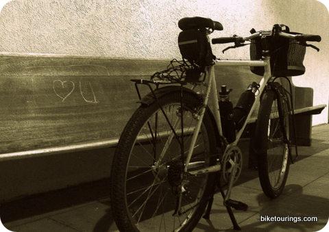 Picture of Bridgestone touring bike and love