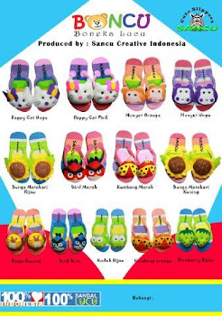 Sandal Boneka lucu
