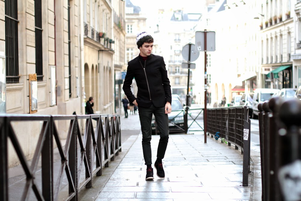 Capcho-Beanie-Bonnet_River-Island-Blazer_Uniqlo-col-roulé_Asos-Chino_Faguo-Shoes-Chaussures_Blog-mode-Homme_Style-Mensfashion_Paris