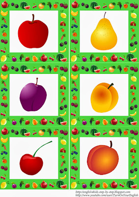 fruit flashcards without words for kids