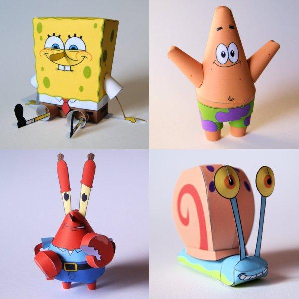 Spongebob squarepants papercraft roundup