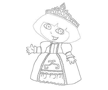 #4 Dora Coloring Page