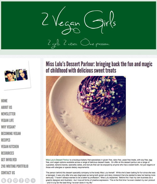Two Vegan Girls Article