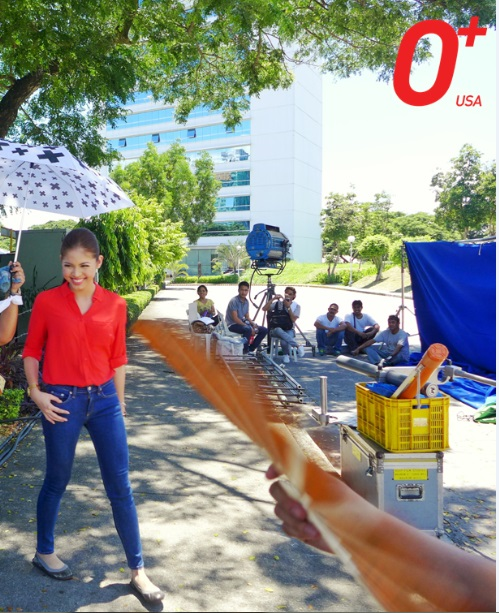 Yaya Dub's shoots 'May Forever' O Plus TV commercial