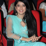 Poonam Kaur Awesome Cleavage Show In Blue Dress At Telugu Film 'Nagavalli' Audio Launch