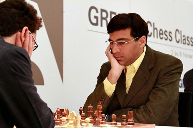 Caruana - Anand en el Grenke Chess Classic 2015