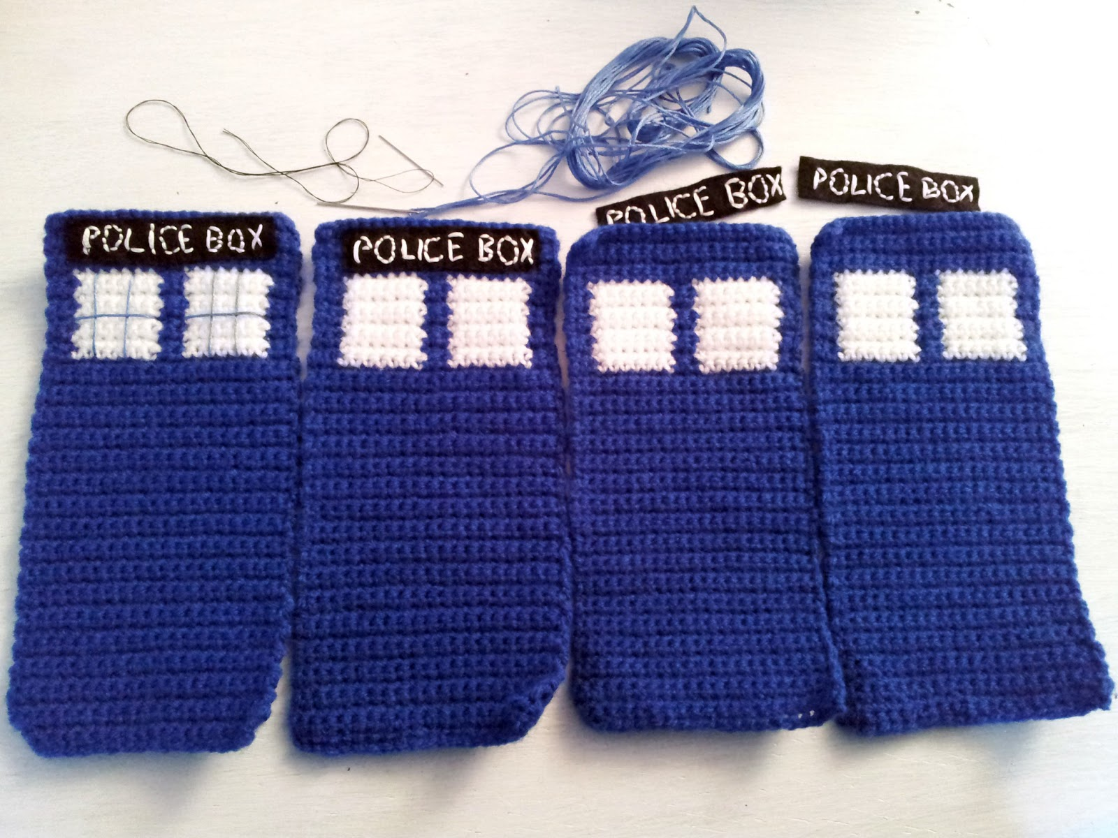 Lost in the Wood: Joyfully Geeky Crochet- Creating a TARDIS