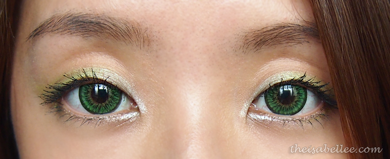Green and silver eye makeup