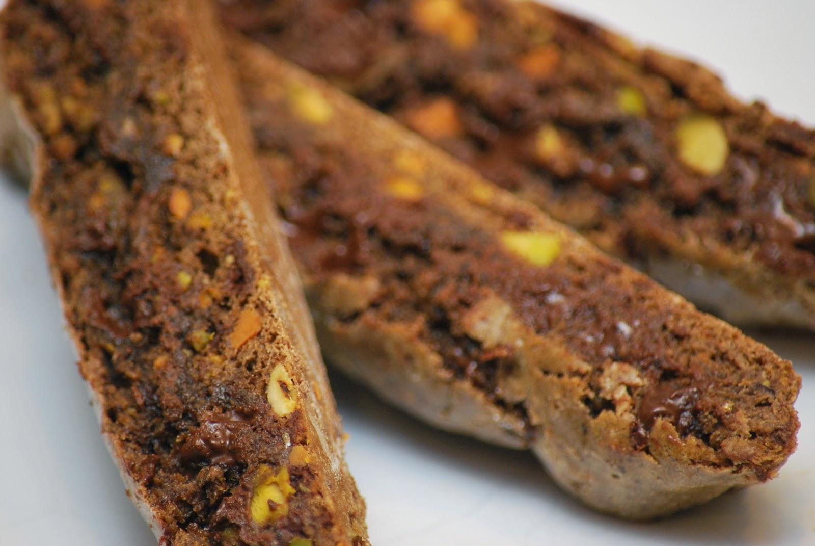 Chocolate-Pistachio Biscotti Recipe — Dishmaps