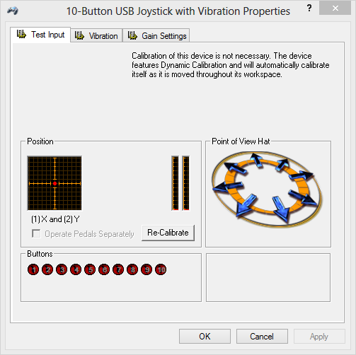 Usb Vibration Joystick (Bm) Driver