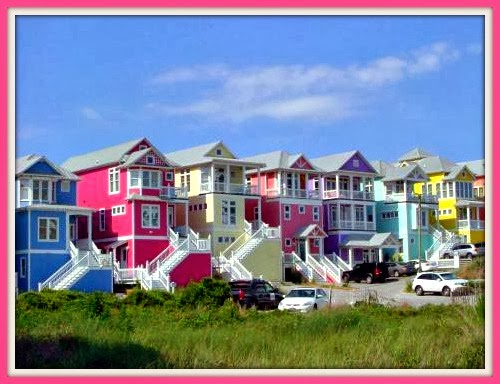 Beach House Exteriors Bright And Bold Colors