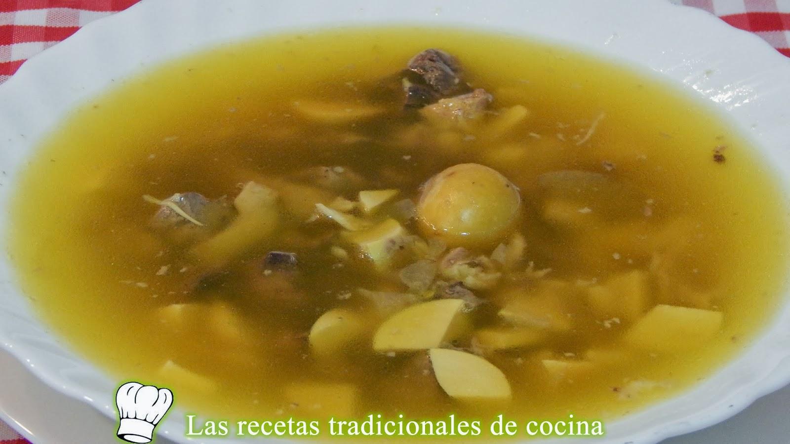 Receta De Sopa De Menudillos
