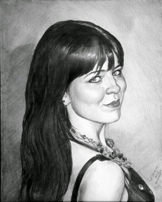 Tilpasset portrett fra et foto av en blyant
