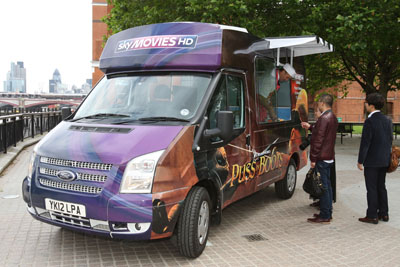 Sky Movies ice cream van