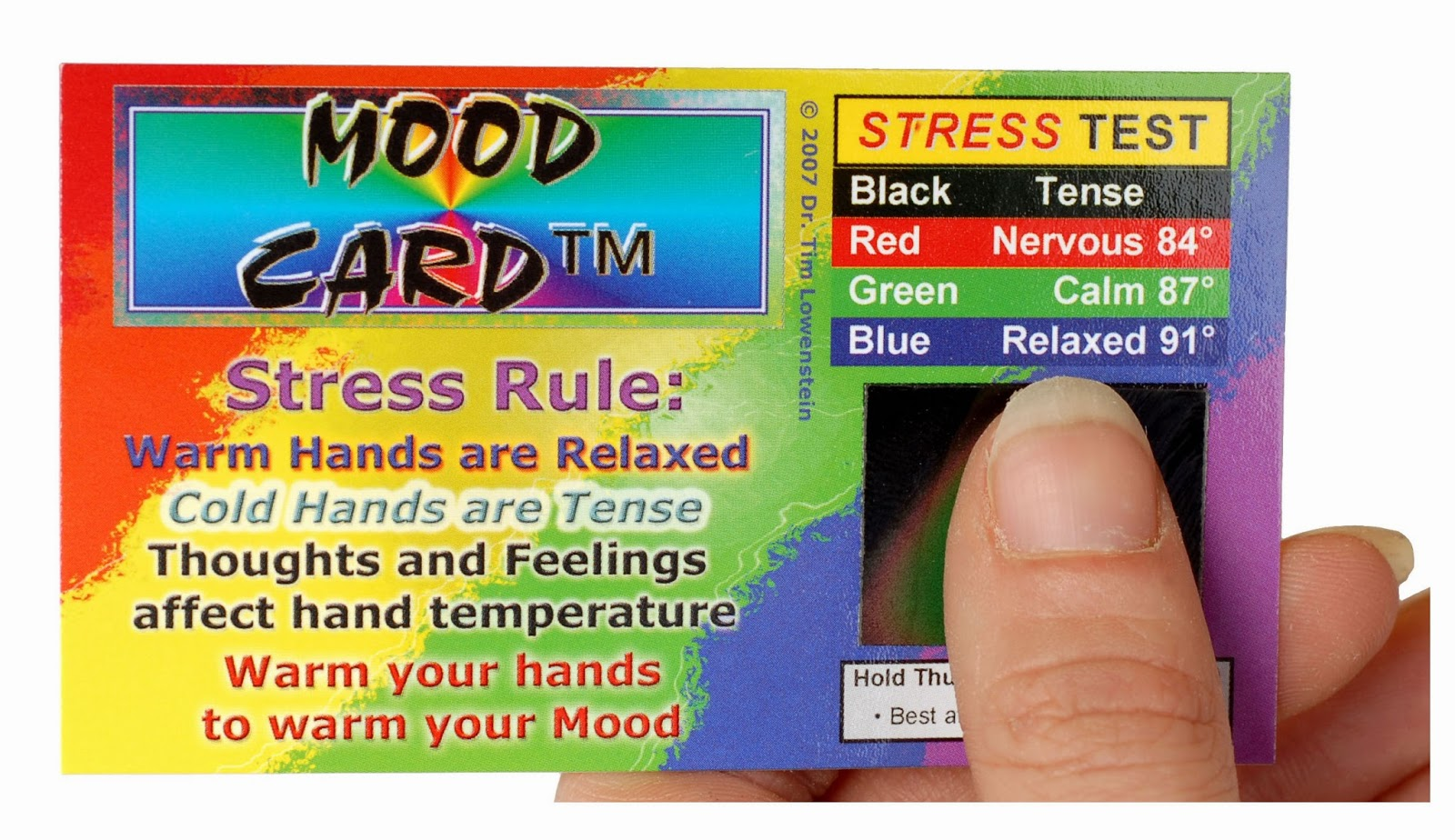 Stress anxiety biofeedback relaxation skills stress card the stress card fast stress test with color readout colourmoves