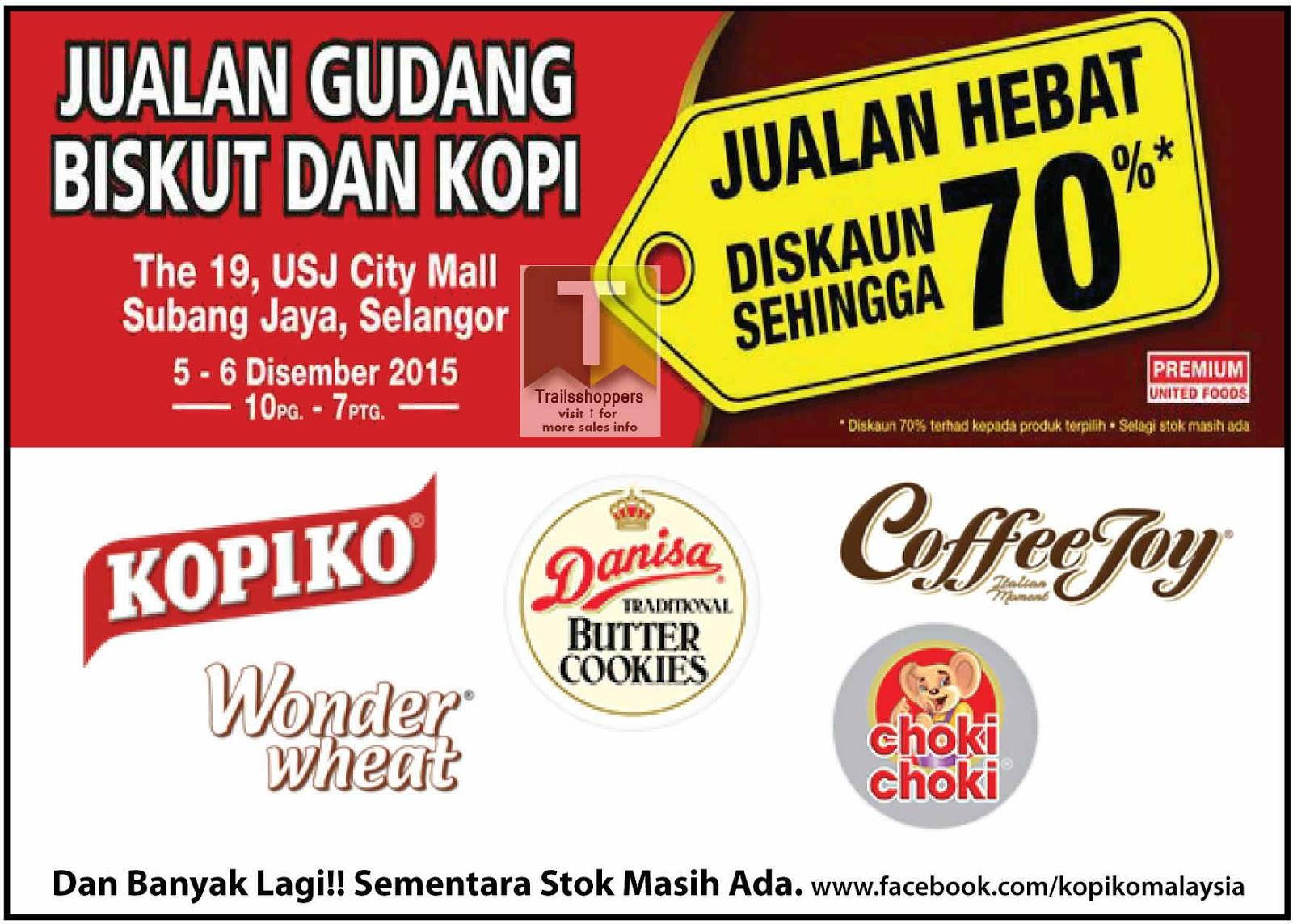 Biscuit & Coffee Warehouse Sale 2015 kopiko danisa cookies malaysia