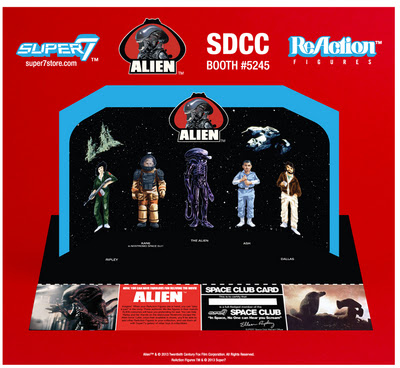 Super 7 ReAction Alien SDCC 2013 Exclusive Early Bird Set