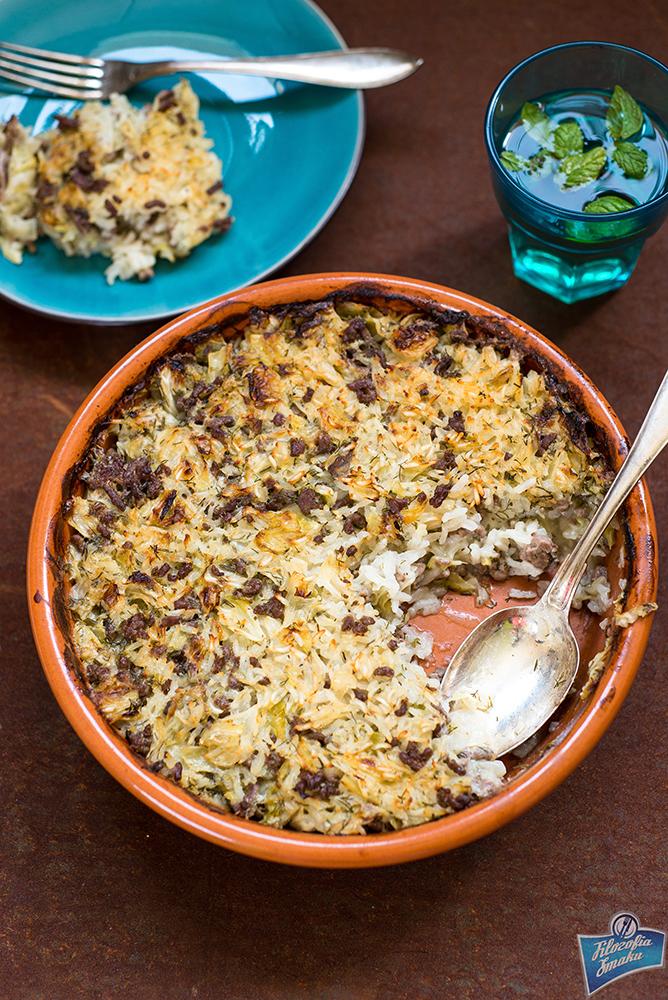 Kapusta zapiekana z ryżem i mięsem