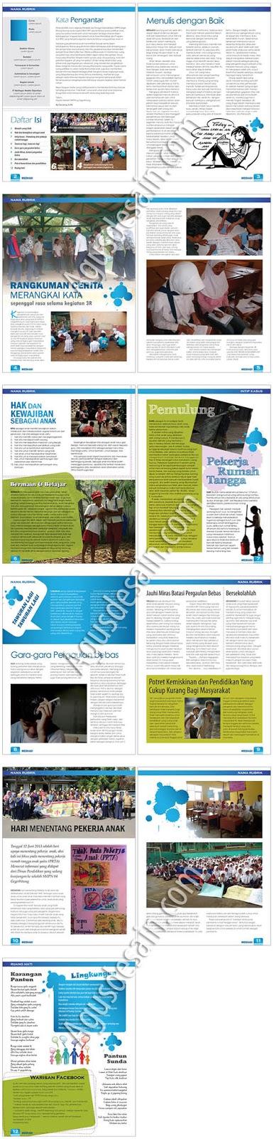 layout majalah/buletin sekolah