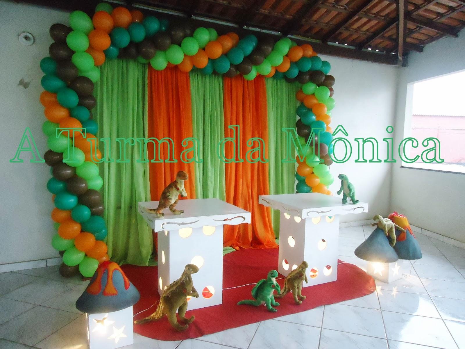 decoracao festa simples:Turma da Mônica Festas: DECORAÇÃO SIMPLES FESTA DINOSSAUROS