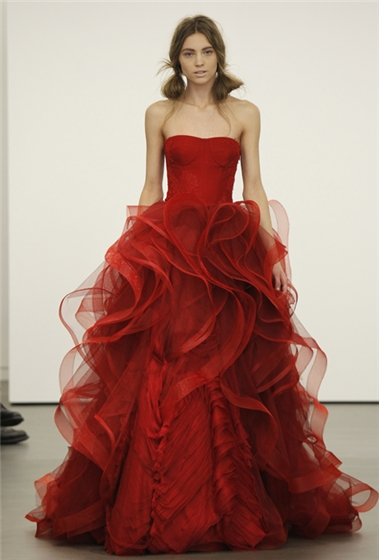 I Heart Wedding Dress Vera Wang Bridal Spring 2013