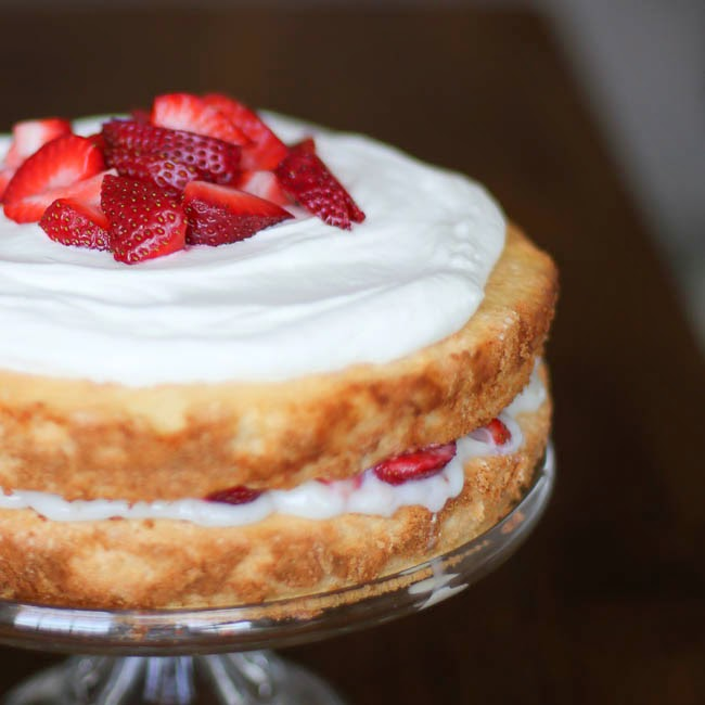 fashionedible strawberry lemon sponge cake with