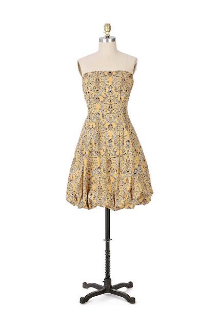 Anthropologie Pineapple Upside Down Dress