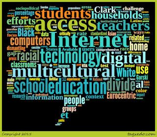 Word cloud of the article: Multicultural Education and the Digital Divide