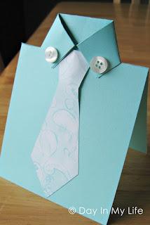 cartão dia dos pais camisa de papel
