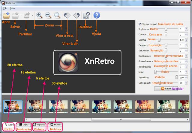 XnRetro - interface