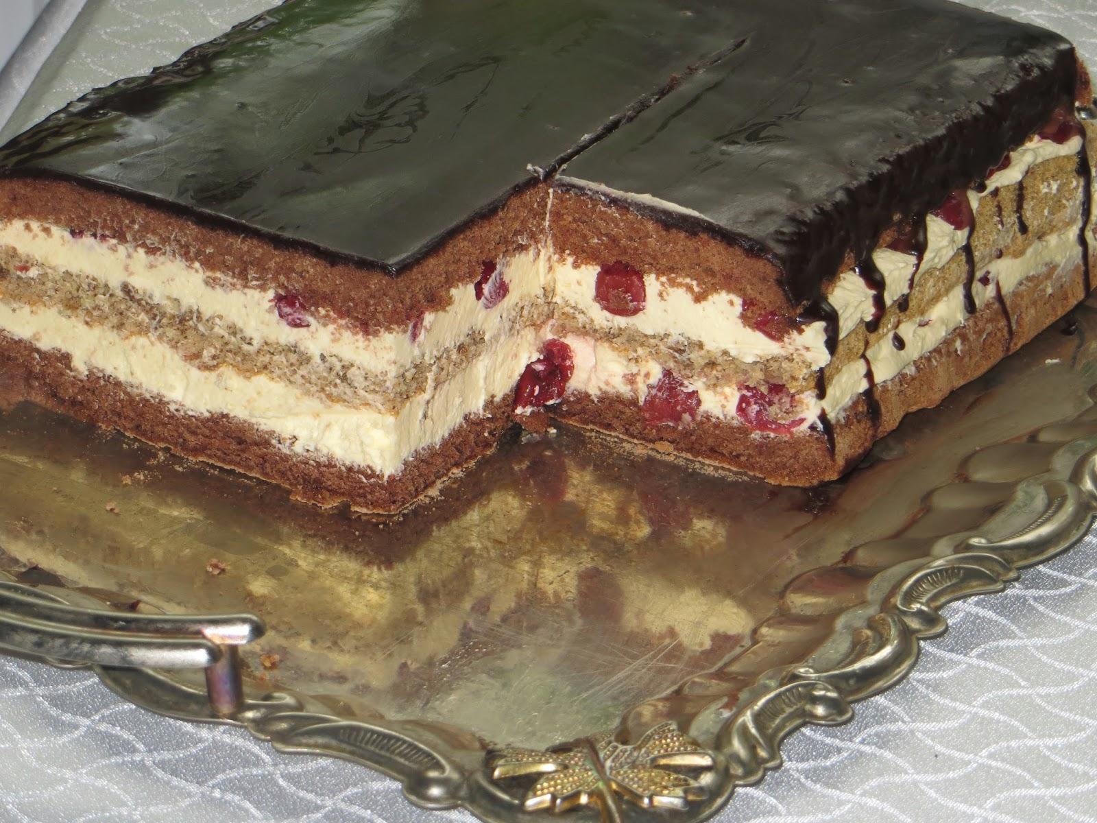 Шоколадно-ореховый торт в домашних условиях