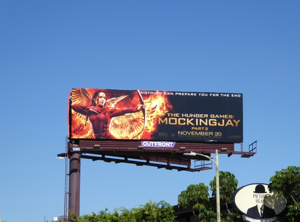 Hunger Games Mockingjay Part 2 movie billboard