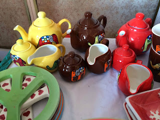 Teapots at British Women's Association Fair Karachi