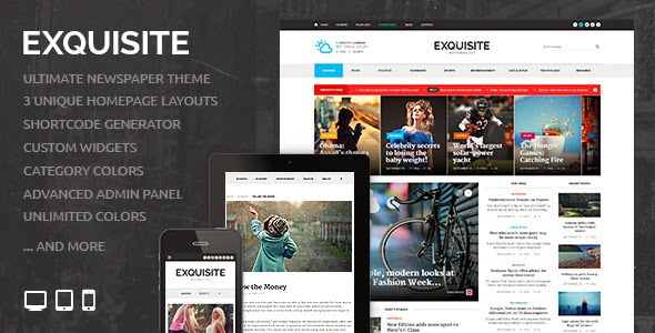 EXQUISITE - THEMEFOREST ULTIMATE NEWSPAPER THEME