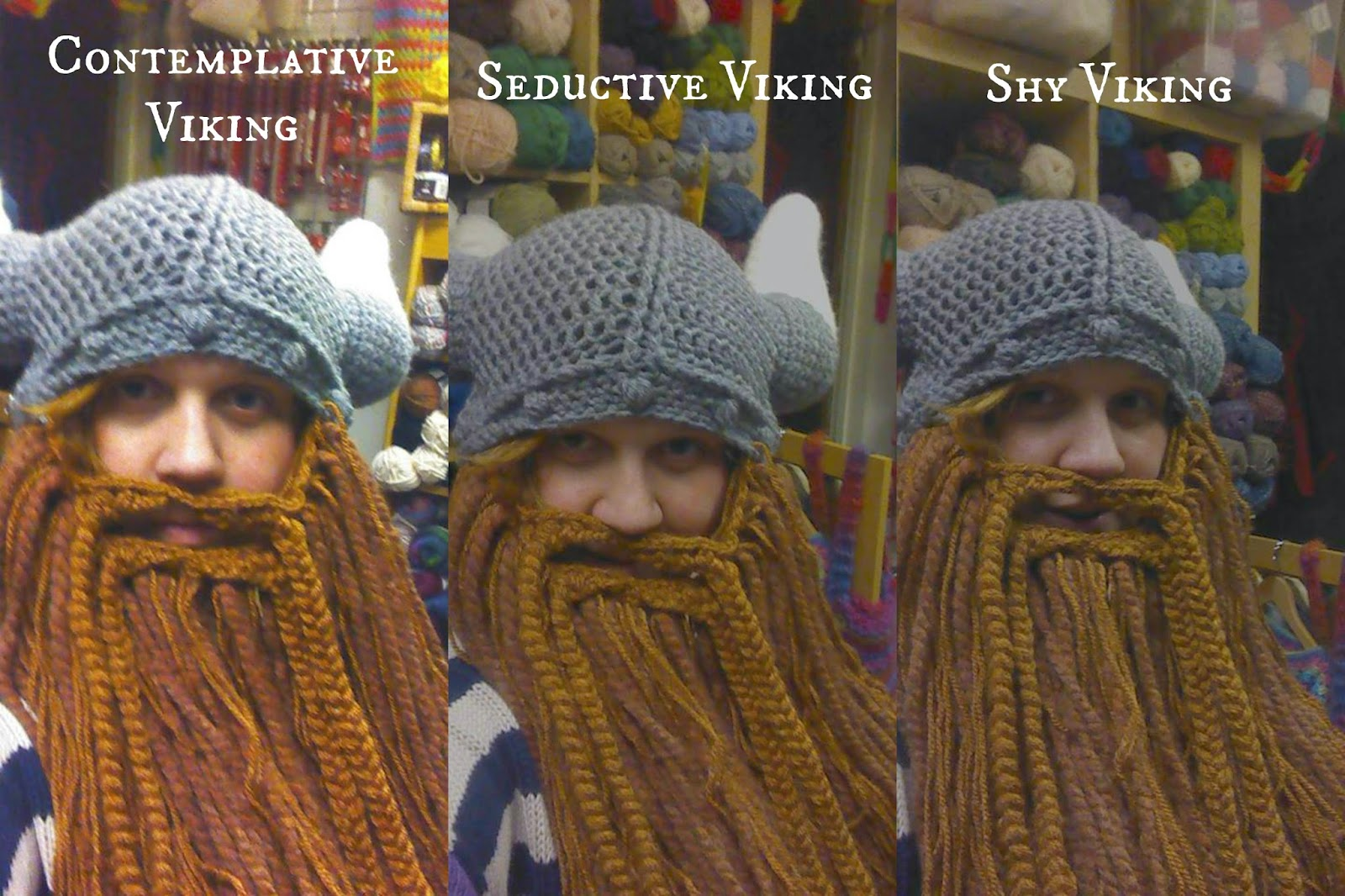 Knitting Patterns For Viking Hat : Knit Nottingham: Pattern of The Weeeeeeeeeeeeek - Viking Hat.