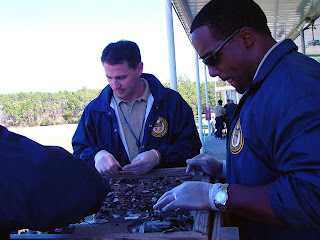Agent Willie and a colleague go through post blast crime scene training with the ATF.