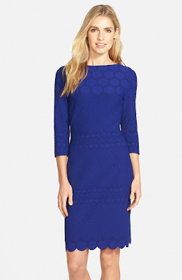 Julia Jordan Eyelet Sheath Dress Nordstrom
