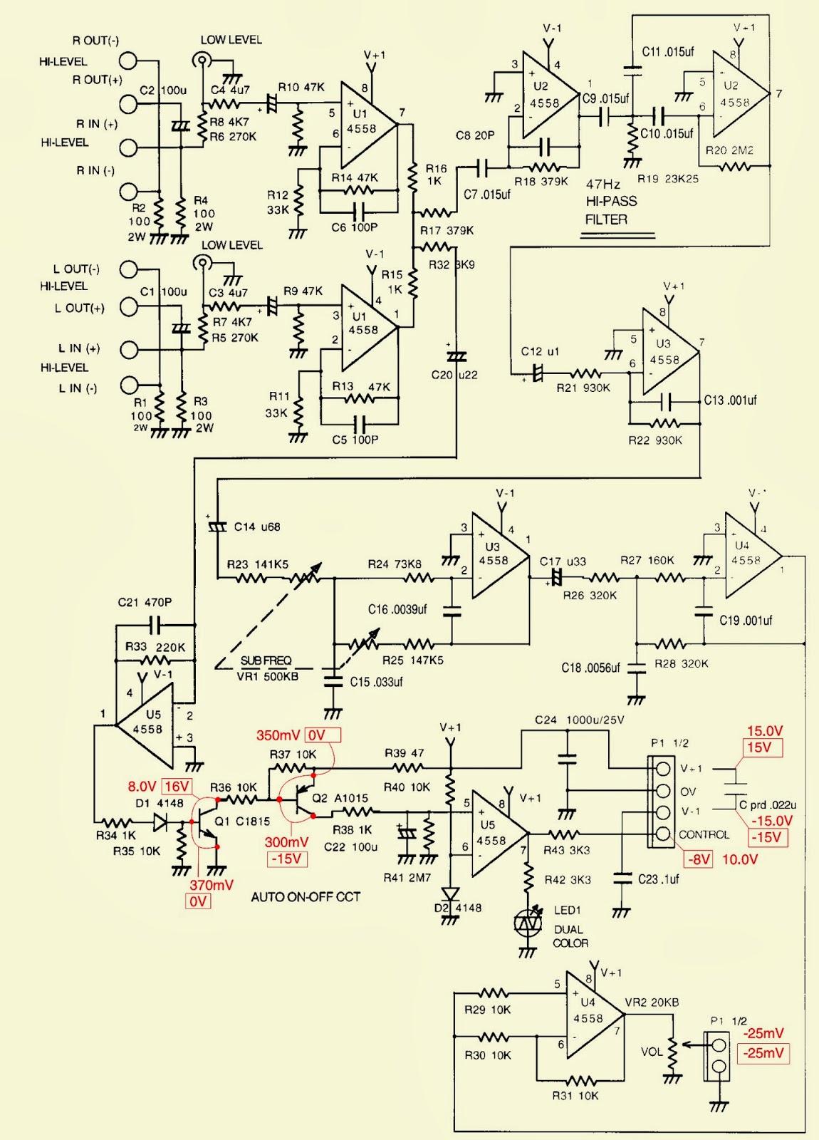 JBL ARC SUB _ TEST PROCEDURE _ SCHEMATIC DIAGRAM (Circuit Diagram)