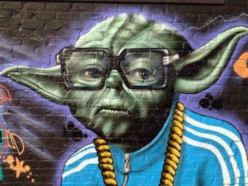 Graffiti de Yoda