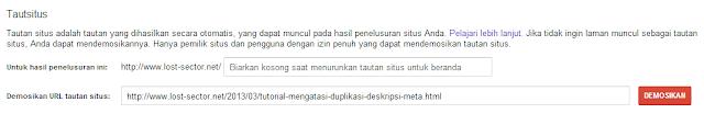 Demosi Sitelinks