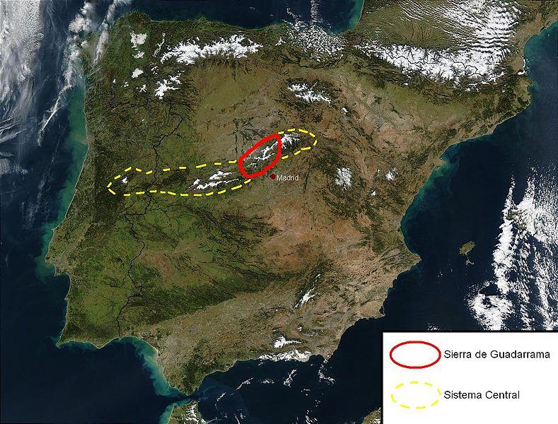 Sierra de Guadarrama Spain  city photos gallery : ... : Mapa localización del Parque Nacional de la Sierra de Guadarrama